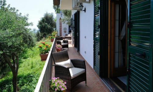 A balcony or terrace at H.H.Le Palme