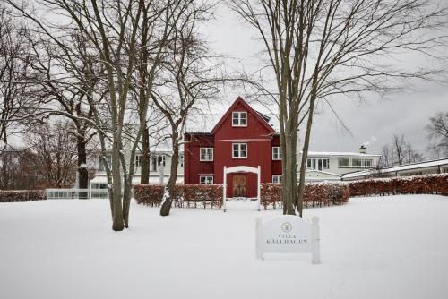 Villa Källhagen during the winter