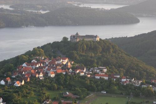 A bird's-eye view of Hotel Schloss Waldeck