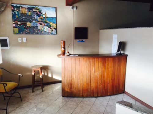 The lobby or reception area at Pousada Caminho Do Mar - BA
