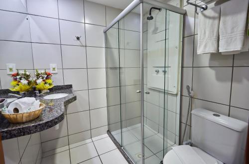 Um banheiro em Villa Park Hotel