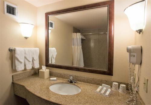 A bathroom at Hilton Garden Inn Wooster