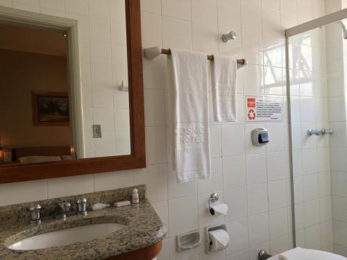 A bathroom at Cosmos Hotel