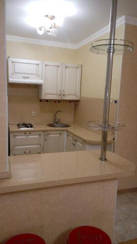 Кухня или мини-кухня в Апаптаменты на Трехсвятской