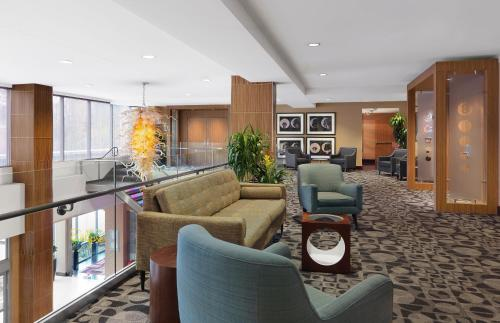The lobby or reception area at The Moonrise Hotel