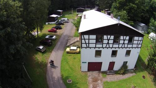 Een luchtfoto van Ferienheim Mosbach