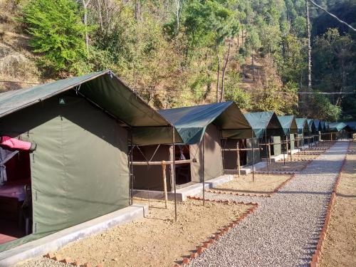 The building in which the luxury tent is located