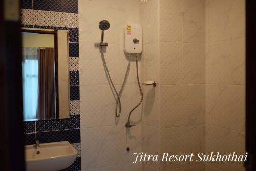A bathroom at Jitra Resort