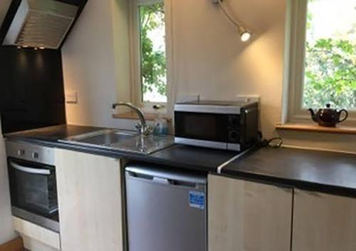 A kitchen or kitchenette at 33B Studio, small but complete