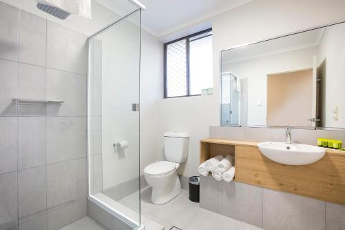 A bathroom at Nightcap at Kawana Waters Hotel