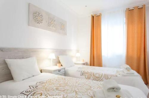Cama ou camas em um quarto em Simple Chic Belem Apartment
