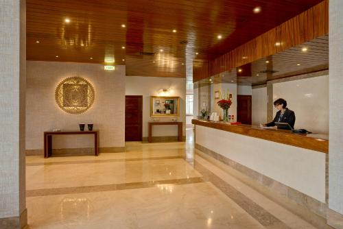 The lobby or reception area at Alisios