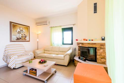 A seating area at Blue Asteri Villa