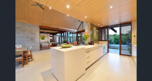 The lobby or reception area at Niramaya Villas and Spa