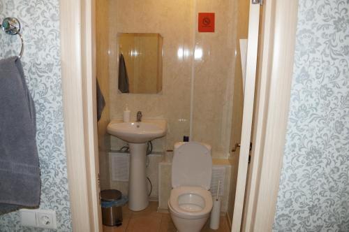 A bathroom at Хостел Обской возле Толмачево