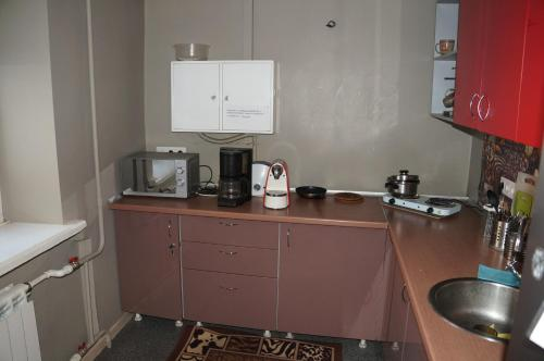 A kitchen or kitchenette at Хостел Обской возле Толмачево