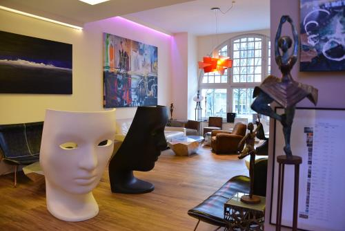 The fitness centre and/or fitness facilities at Arthotel Munich