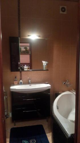 A bathroom at Apartment on Fortovaya Doroga