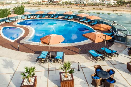 A view of the pool at Ibis Abu Dhabi Gate or nearby