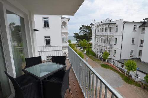 A balcony or terrace at Strandhaus Seeblick