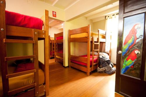 A bunk bed or bunk beds in a room at Pariwana Hostel Lima