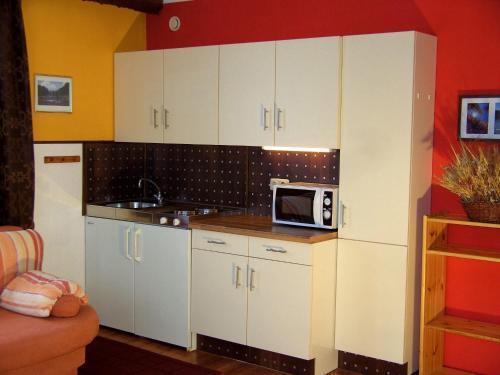 Küche/Küchenzeile in der Unterkunft Landhaus Panorama