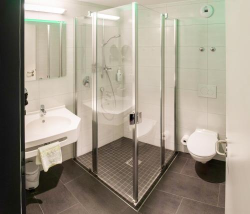 Ein Badezimmer in der Unterkunft Fischer's Hotel Brauhaus