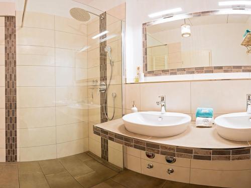Ein Badezimmer in der Unterkunft Hof und Gut Jesteburg
