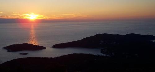 Wschód lub zachód słońca widziany z tego pensjonatu
