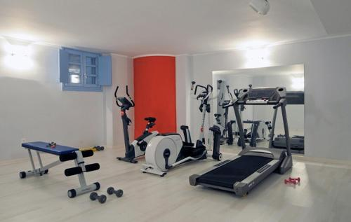 The fitness center and/or fitness facilities at Kythira Golden Resort