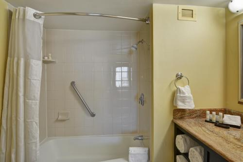 A bathroom at Embassy Suites by Hilton Miami International Airport