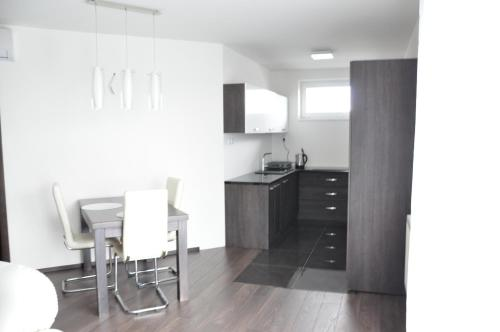 A kitchen or kitchenette at Panorama Apartments Presov