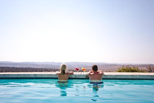 The swimming pool at or close to Nambiti Hills Private Game Experience