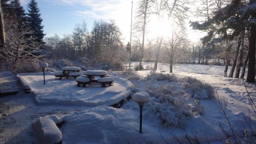 Villa Struka during the winter