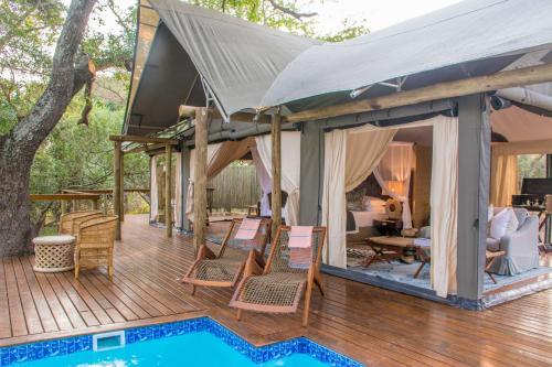 The swimming pool at or close to Rhino Sands Safari Camp