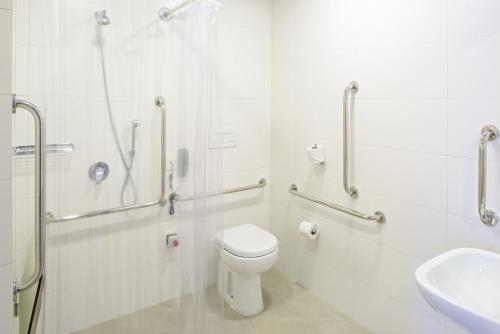 A bathroom at ibis budget Santos Gonzaga