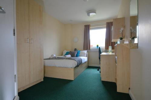 A bed or beds in a room at Newport Student Village (Campus Accommodation)