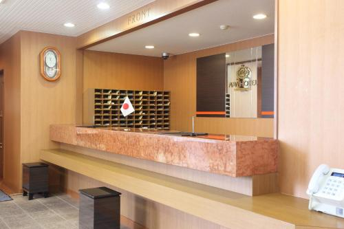 The lobby or reception area at APA Hotel Akita-Senshukoen