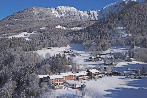 Alm- & Wellnesshotel Alpenhof during the winter