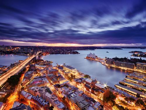A bird's-eye view of Shangri-La Sydney