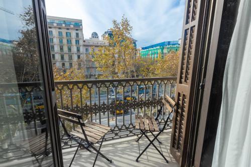 A balcony or terrace at Hostalin Barcelona Passeig de Gràcia