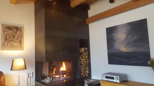 A television and/or entertainment center at Chalet Ciamarella