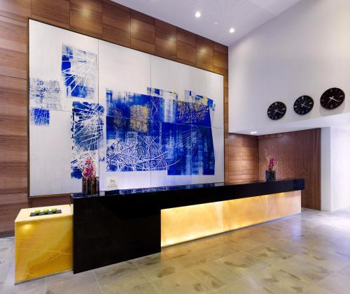 The lobby or reception area at DoubleTree by Hilton Zagreb