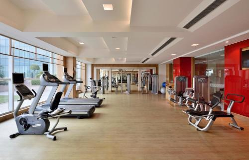 The fitness centre and/or fitness facilities at Taj Hotel & Convention Centre Agra