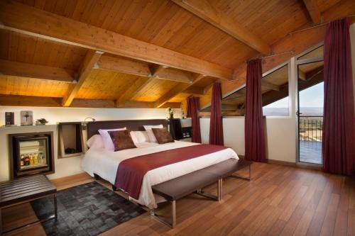 Cama o camas de una habitación en Hotel Eguren Ugarte