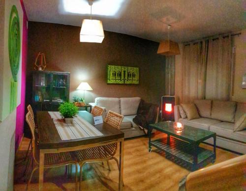 Zona de estar de Apartamentos Alcazar de Baeza