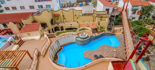 A view of the pool at Hotel Festival Plaza Playas Rosarito or nearby