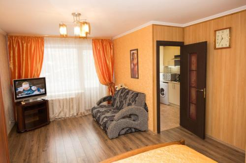 A seating area at Апартаменты Филя