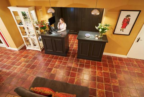 The lobby or reception area at Hotel-Restaurant Gulpenerland