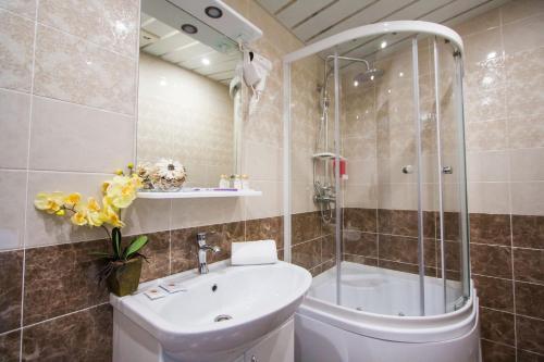 Ванная комната в Hotel Solar